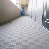 マンション 床シート張替(廊下)